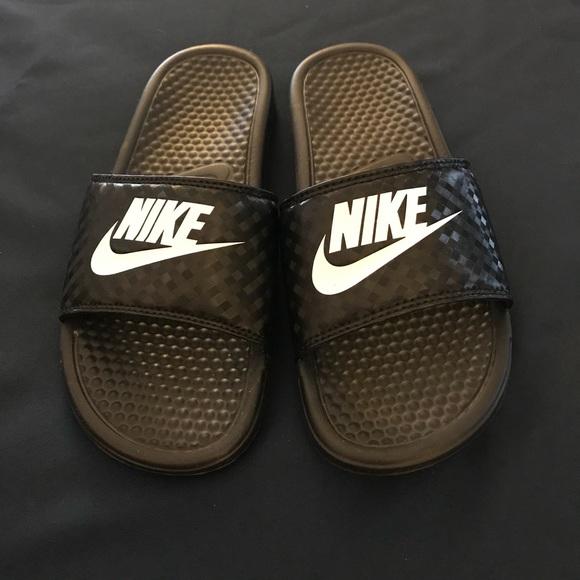 Nike slide sandals, NWOT. Size 9.